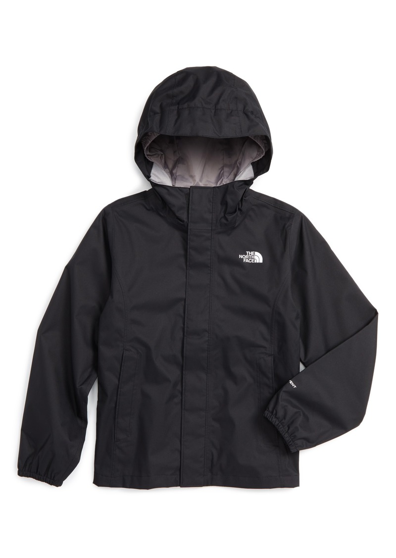 The North Face Resolve Reflective Waterproof Hooded Jacket (Little Girls    Big Girls) fc3c6ae16