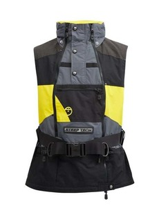 The North Face Apogee belted waterproof-shell jacket vest