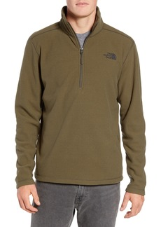 The North Face Texture Cap Rock Quarter Zip Fleece Jacket