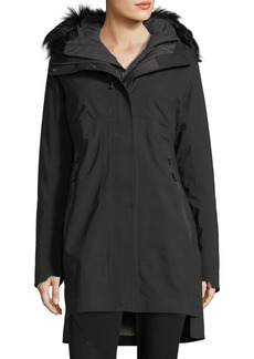 The North Face Triclimate® Hooded Zip-Front Parka Jacket w/ Faux-Fur