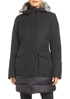 The North Face Tuvu Water Repellent Parka with Faux Fur Trim