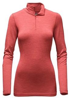 The North Face Women's LS Go Seamless Wool 1/4 Zip Top