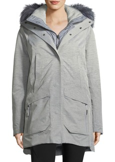 The North Face Zip-Front Hooded Gore-Tex® Parka Jacket w/ Faux-Fur