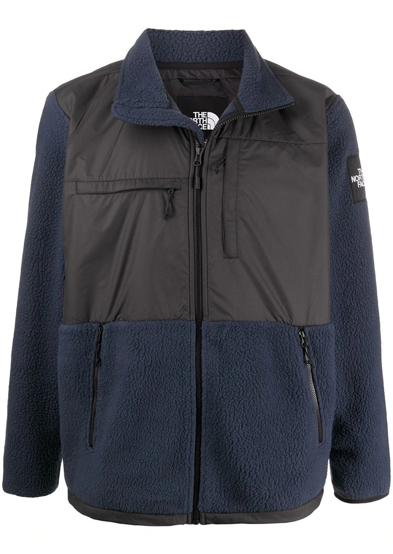 The North Face zip up panelled sweater