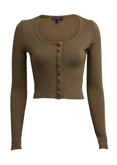 The Range Alloy Cropped Rib Knit Top