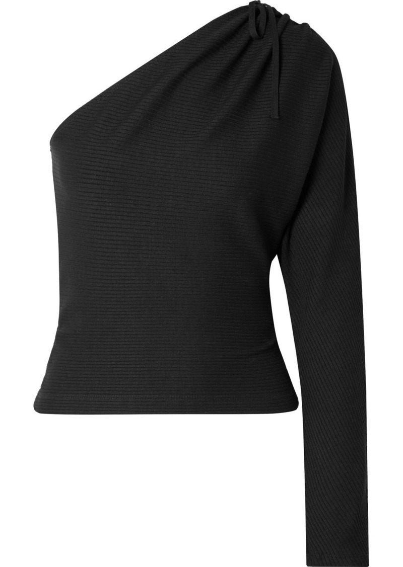 Alloy One-shoulder Ribbed Stretch-knit Top