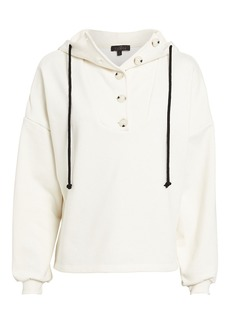The Range Button Front Terry Hoodie