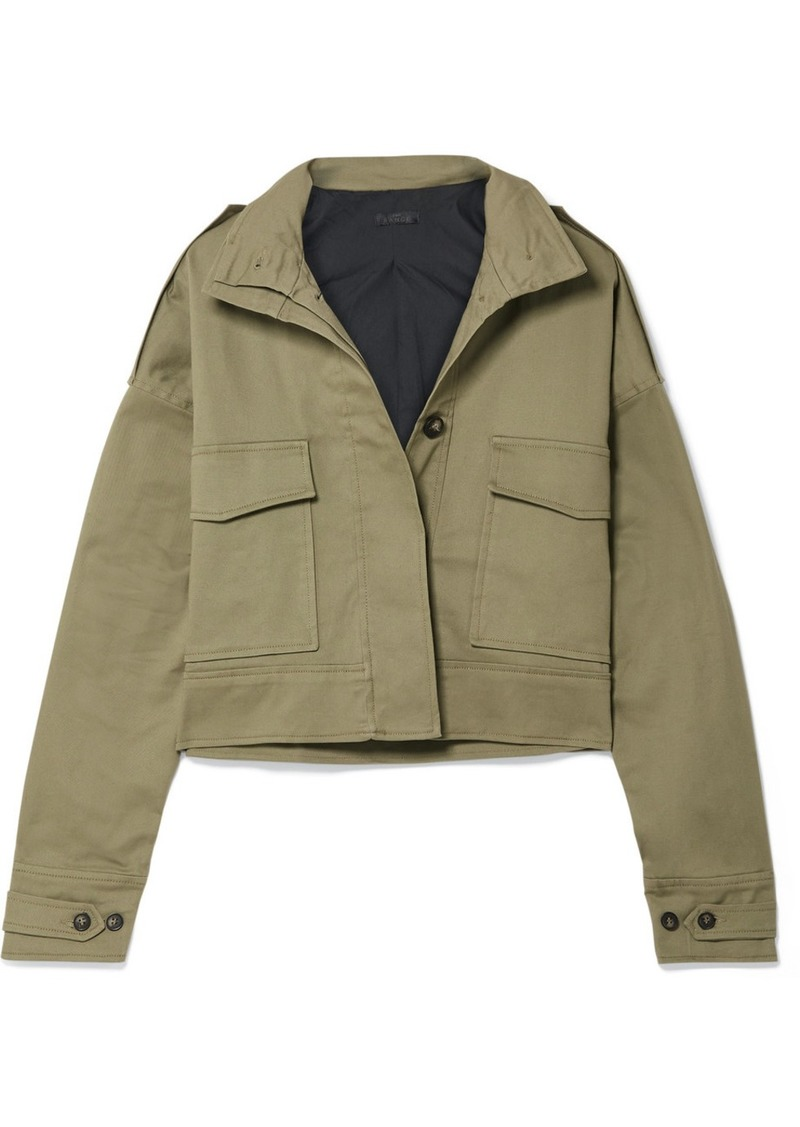 The Range Cropped Cotton-blend Twill Jacket