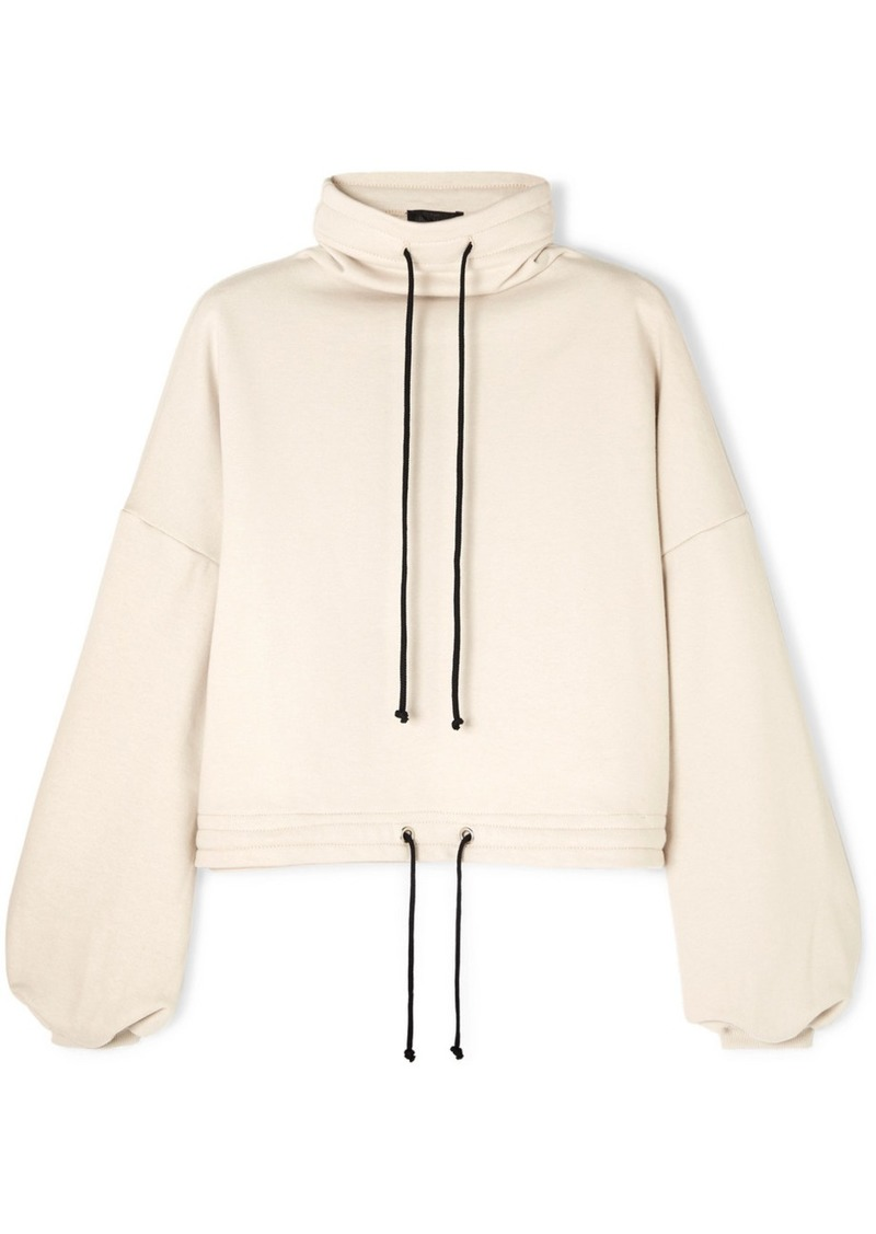 Oversized Cotton-blend Terry Turtleneck Sweatshirt