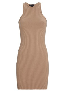 The Range Primary Rib Knit Carved Mini Dress