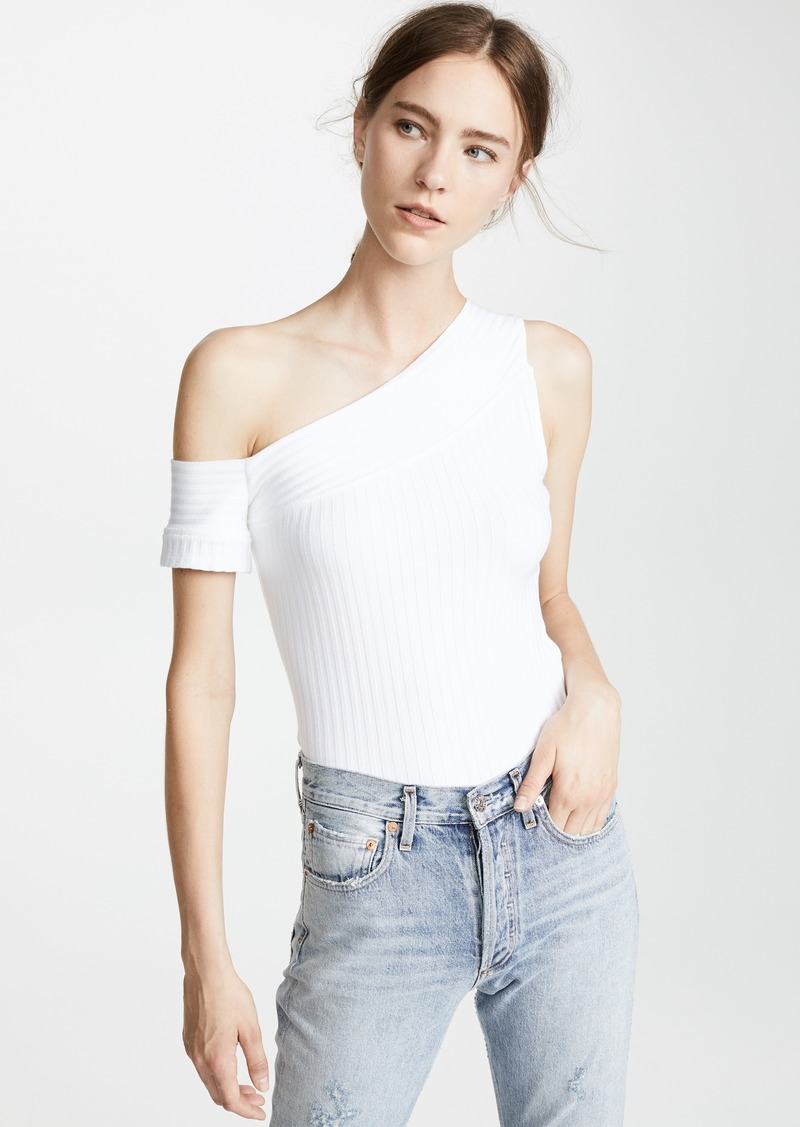 The Range Banded One Sleeve Top