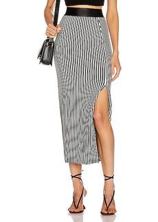 The Range Bound Striped Banded Skirt