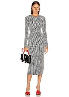 The Range Bound Striped Midi Dress