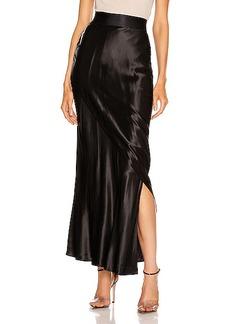 The Range Liquid Satin Layered Column Skirt