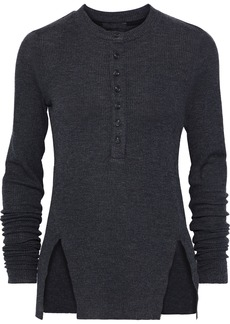 The Range Woman Waffle-knit Top Charcoal