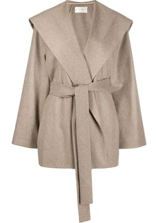 The Row belted single-breasted coat