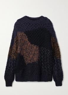 The Row Abboi Oversized Intarsia Open-knit Sweater