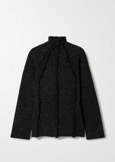 The Row Adamy Melange Wool Turtleneck Sweater