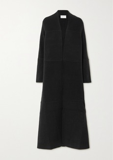 The Row Ariane Paneled Cashmere And Wool-blend Coat