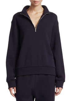 The Row Ashlee Zip Placket Sweatshirt