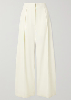 The Row Avril Pleated Crepe Wide-leg Pants