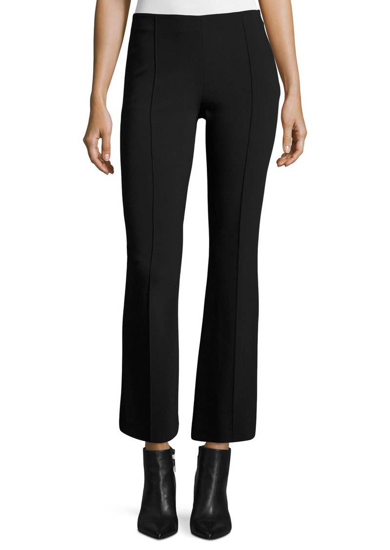 The Row Beca Cropped Boot-Cut Pants  Black