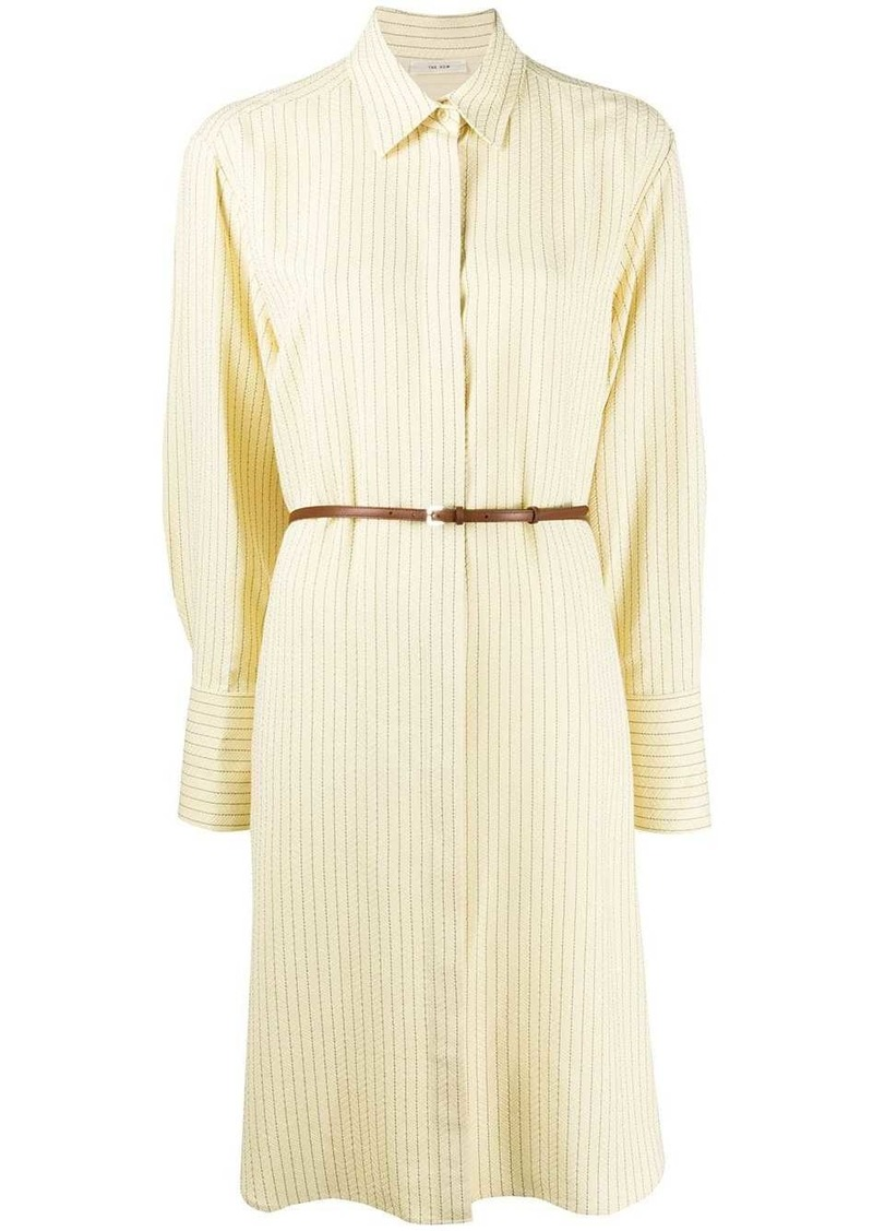 The Row belted shirt dress