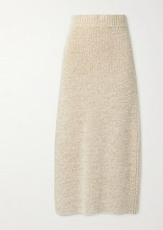 The Row Caluso Ribbed Cashmere And Silk-blend Boucle Maxi Skirt