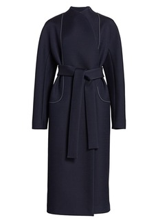 The Row Celete Contrast Stitch Coat