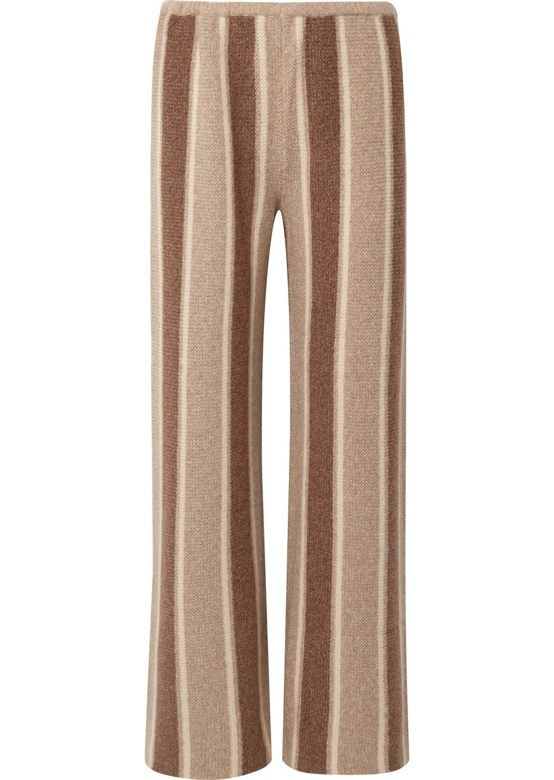 The Row Culotta Cashmere And Silk-blend Wide-leg Pants