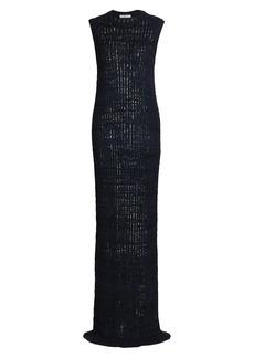 The Row Cutro Raw Silk Knit Dress