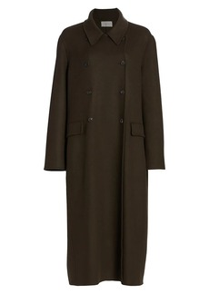 The Row Dilona Double-Breasted Cashmere & Silk Coat