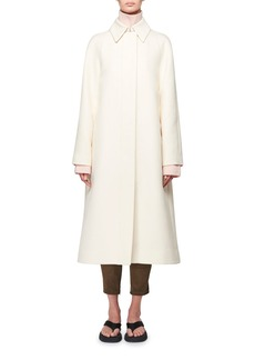 The Row Duru Stretch Cotton Midi Coat