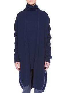 The Row Elado Long Cashmere-Silk Open-Front Cardigan