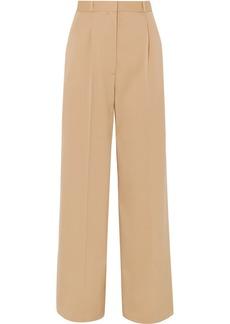 The Row Elin Wool-blend Twill Wide-leg Pants