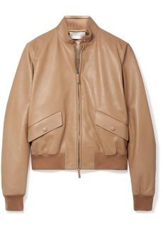 The Row Erhly Leather Bomber Jacket