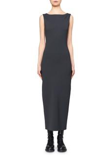 The Row Erin Scuba Crepe Maxi Dress