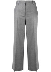 The Row flannel cropped trousers
