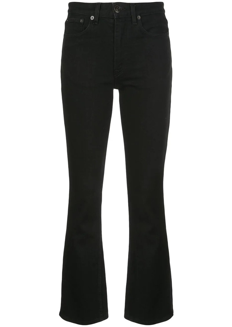 The Row flared crop jeans