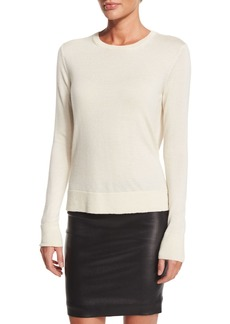 The Row Ghent Long-Sleeve Sweater  Ivory
