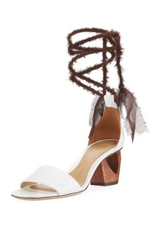 The Row Hanna Ankle-Wrap Leather Sandal