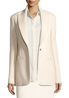 The Row Ibner Stretch Wool One-Button Jacket