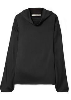 The Row Iona Oversized Silk-satin Top