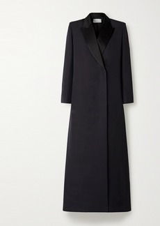 The Row Ivana Wool And Silk-blend Coat