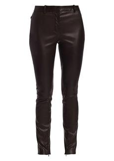 The Row Jodphur Leather Skinny Pants