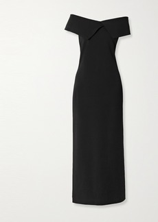 The Row Joni Off-the-shoulder Stretch-cady Maxi Dress