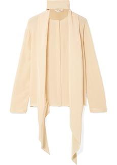 The Row Katina pussy-bow silk blouse