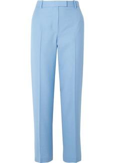 The Row Lada Grain De Poudre Wool Straight-leg Pants