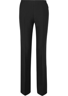 The Row Ladan Wool And Silk-blend Straight-leg Pants