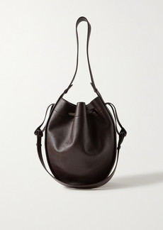 The Row Large Textured-leather Bucket Bag